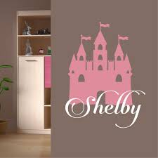 Girl Wall Decal Castle Silhouette Custom Name Lettering