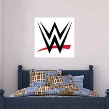 Wwe Wall Sticker Logo Graphic Decal Mural Art Vinyl Bedroom Poster White Ebay