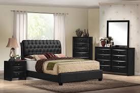 black finish wood black faux leather