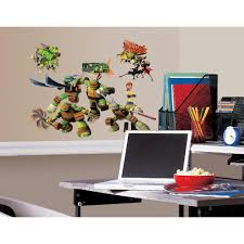 Roommates 10 In X 18 In Teenage Mutant Ninja Turtles 30 Piece Peel And Stick Wall Decals Rmk2246scs The Home Depot