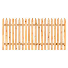 Unbranded 4 Ft X 8 Ft Cedar Spaced Moulded Stockade Fence Panel 405800 The Home Depot