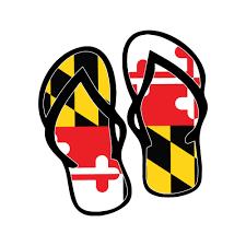 Maryland Flag Flip Flops Car Decal Maryland State Flag Flip Flops Sticker Maryland Pride In 2020 Maryland Flag Decal Maryland Flag Police Decal