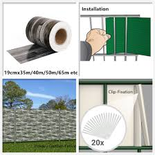 China 450g Zieglstein 19cmx35m With 20clips Pvc Tarpaulin Strip Screen Fence Garden Fencing From China On Topchinasupplier Com