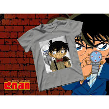 Áo thun Cotton Unisex - Anime - Conan - Conan và Kid