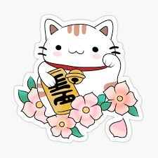 Lucky Cat Stickers Redbubble