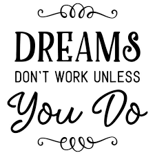 Inscription Dreams Don T Work Unless You Do Wall Art Sticker Decal For Sale Online Ebay