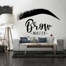 Brow Master Wall Decal Quote Eyelashes Eyebrows Vinyl Sticker Wallpaper Brow Bar Wall Window Decoration Easy Removable G11 Wall Stickers Aliexpress