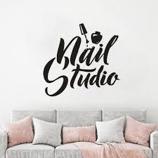 Vinyl Wall Sticker For Nail Studio Manicure Pedicure Polish Vinyl Wall Windows Decal Beauty Salon Wall Art Mural Az131 Buy At The Price Of 6 09 In Aliexpress Com Imall Com