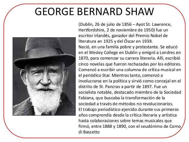 """Resultado de imagen de bernard shaw biografia"""""""