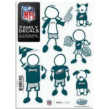 Philadelphia Eagles Family Decals Family Car Decals Nfl