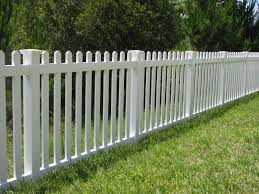 Jamestown Vinyl Picket Fence With New England Caps By Mossy Oak Fence Fence Design White Picket Fence House Building A Fence