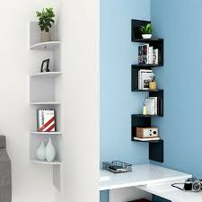 Floating Wall Shelves Corner Shelf Storage Display Bookcase Kids Room Tier Decor Ebay