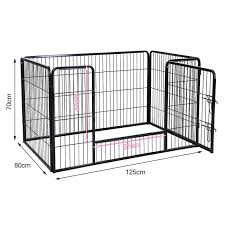 Super Sale D5338 Pet Fence Dogs Aviary Thick Stainless Steel Foldable Pet Playpen Crate Cats Puppy Kennel House Pet Supplies 125x80x70cm Hwc Cicig Co