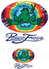 Amazon Com Enjoy It Peace Frogs Tie Die Oval Peace Frogs Car Sticker Outdoor Rated Vinyl Sticker Decal For Windows Bumpers Laptops Or Crafts 2 Pieces Toys Games