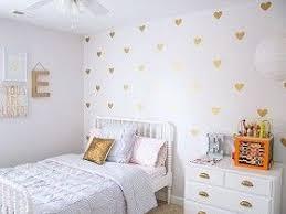 Gold Hearts Wall Decal Urban Walls At Sugarbabies Wall Decor Bedroom Heart Wall Decal Gold Heart Wall Decals