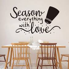 Large Season Everything With Love Spice Jar Quote Wall Sticker Kitchen Restaurant Family Love Cooker Quote Wall Decal Vinyl Wall Stickers Aliexpress