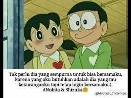 gambar kata kata cinta doraemon dan nobita