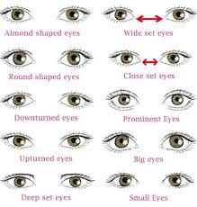 diffe types of eye shapes which