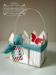 Constantly Stamping Picket Fence Easter Basket
