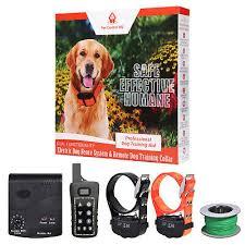 Hidden Electric Dog Fence System 2 Collars Remote Training Waterproof Wireless Ebay