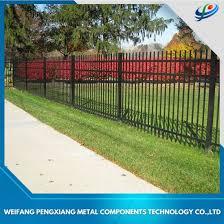 China 1 8 2 4m Steel Galvanized Or Aluminum Black Powder Security Garden Fence Panel China Security Fence Aluminum Fence