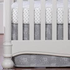 crib skirt 17 drop gray baby bedding