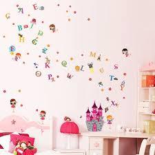 Zoomie Kids Angel Castle And Alphabet Wall Decal Wayfair