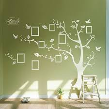 Kiki Monkey Photo Frame Tree Wall Stickers Removable Wall Decor Decal Stickers White Right Wantitall