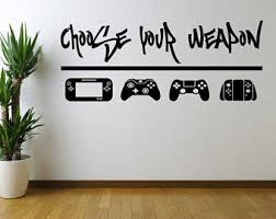 Gamer Wall Decal Etsy