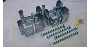 Postfix Slotted Concrete Fence Post Brackets To Fit 4 X 4 Posts 4 Sets Fix Anything To Concrete Posts Just Clamp On No Drilling