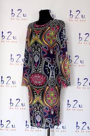 Sukienka Midi Tatuaze Kolorowa Dsq Azteckie Wzory B2u