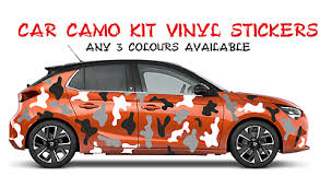 Full Car Camo Kit Decals Stickers Camouflage Any 3 Colours In 2020 Decals Stickers Camouflage Colours