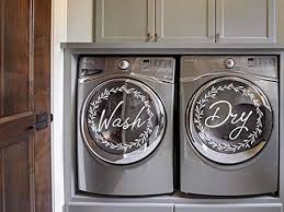 Amazon Com Wash Dry Floral Wreath Sticker Decal For Washing Machine Washer And Dryer Vinyl Removable Handmade