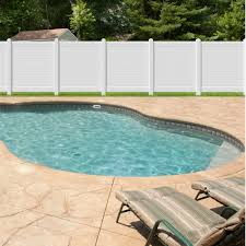 Outdoor Essentials Pro Series Hudson 6 Ft H X 6 Ft W White Vinyl Flat Top Fence Panel In The Vinyl Fence Panels Department At Lowes Com