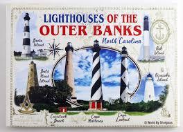 North Carolina Lighthouses Of Outer Banks Fridge Collector S Souvenir Magnet 2 5 Inches X 3 5 Inches Walmart Com Walmart Com