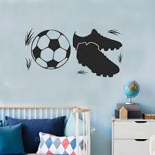 Soccer Boots Wall Stickers Boys Room Football Vinyl Wall Decal Teens Room Decoration Playground Wallpaper Sport Decals Kids Z354 Wall Stickers Aliexpress