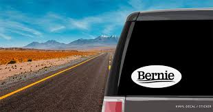 Bernie Sanders Logo Oval Car Window Decal Vinyl Sticker Custom Gifts Etc