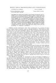 haptic visual discrimination and
