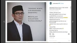 ridwan kamil unggah quote bijak eh netizen sangka ditujukan ke