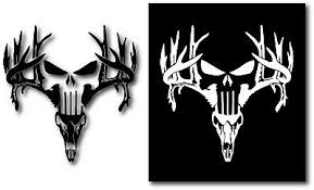 Deer Punisher Antlers Browning Hunting Skull Decal Sticker Car Truck Jeep Window 0 99 Picclick
