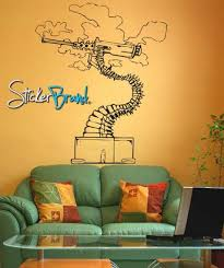 Vinyl Wall Decal Sticker Abstract Bonsai Machine Gun Jh153 Stickerbrand