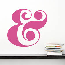 Retro Ampersand Wall Decal