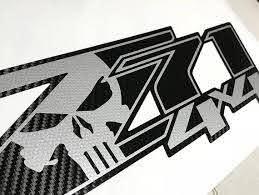 Z71 4x4 Punisher Chevy 2 Decals Stickers Truck Silverado Vinyl Etsy