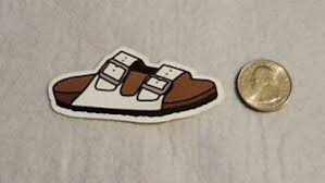 White Strap Sandal Single Sticker Decal Ebay