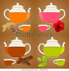 glass teapot cusp set vector