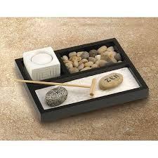 mini office desk zen sand rake rock