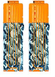 Amazon Com Blastr Wrapz 18 Round Foam Bullet Magazine Sticker Decals For Nerf 2 Pack Custom Vinyl Skin Upgrade For Quick Reload Clip Foam Bullet Dart Cartridges Kids Teens Adults Arctic Camo Toys