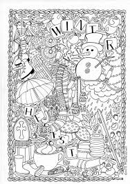 Winter Coloring Pages For Adults In 2020 Met Afbeeldingen