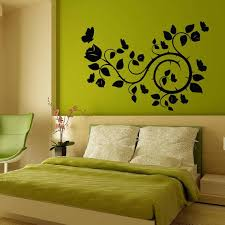 Shop Rose Butterfly Blossom Stickers Vinyl Decal Sticker Art Mural Bedroom Kids Room Decor Sticker Decal Size 22x30 Color Black Overstock 14757915