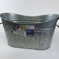 galvanized steel long oval scooped tub